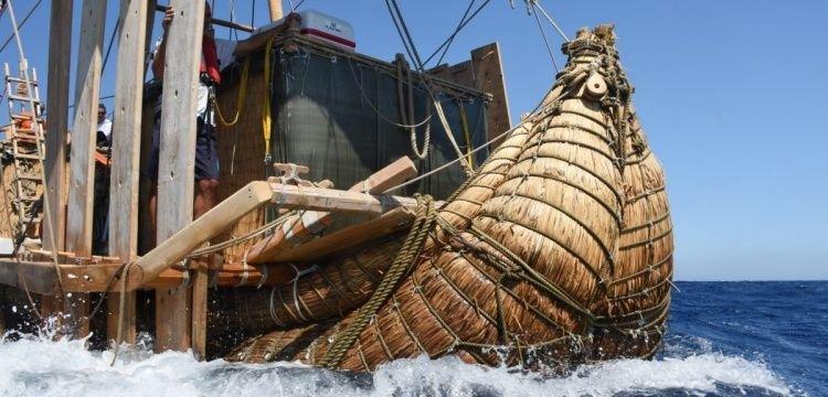 Papirüsten yapılan antik gemi replikası Abora-IV Türkiye'ye hediye edilecek
